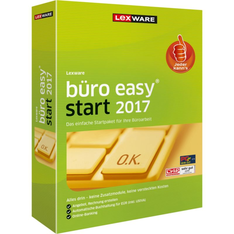 Lexware büro easy start 2017 Jahresversion (365-Tage), Minibox