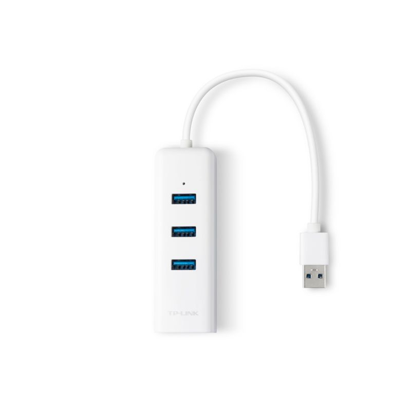 TP-LINK UE330 Gigabit Ethernet + 3-Port USB HUB USB3.0 Adapter