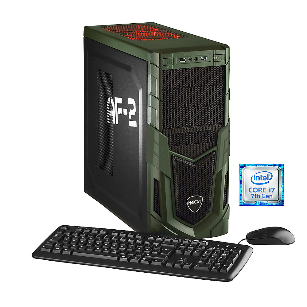 Hyrican Military Gaming 5476 - i7-7700k 16GB/1TB 120GB SSD GTX 1060 W10