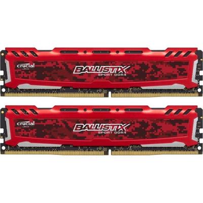 Ballistix 16GB (2x8GB)  Sport LT Rot DDR4-2666 CL16 (16-18-18) RAM Kit | 0649528781888