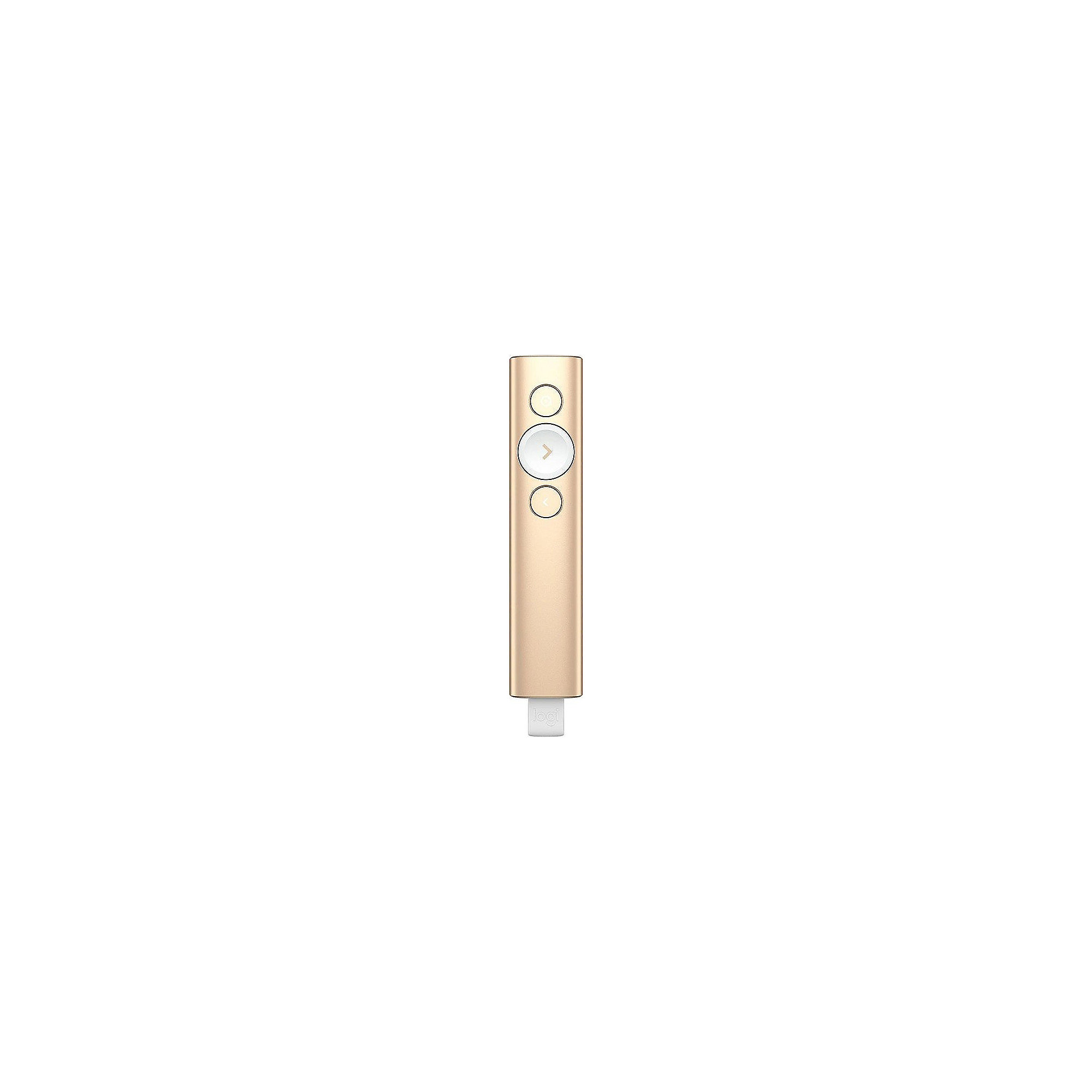 Logitech Spotlight Maus-Presenter USB Bluetooth gold