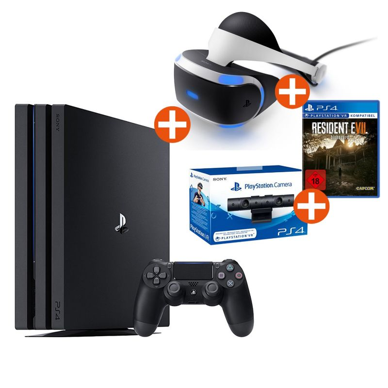 Sony PlayStation 4 Pro + Virtual Reality + VR Kamera + Resident Evil 7 Bundle