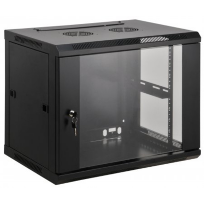 Intellinet  19″ Wandverteiler 370 (H) x 600 (B) x 600 (T) mm 6HE schwarz | 0766623711753
