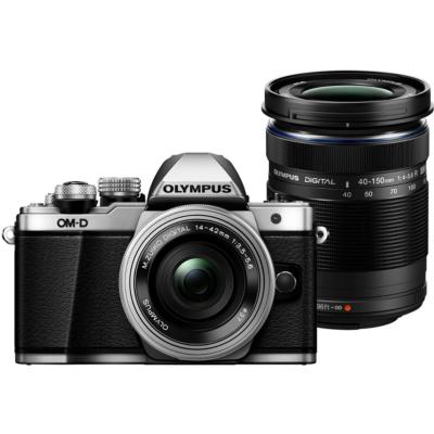 Olympus  OM-D E-M10 Mark II 14-42mm EZ Pancake and 40-150mm Systemkamera silber | 4545350049331