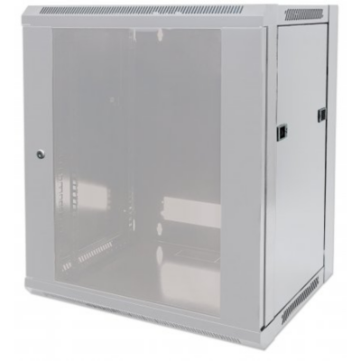 Intellinet  19″ Wandverteiler 770 (H) x 570 (B) x 450 (T) mm 15HE FP grau   0766623711944