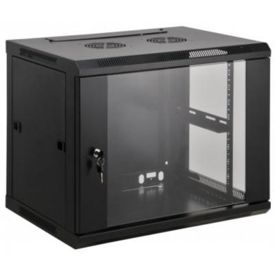 Intellinet  19″ Wandverteiler 500 (H) x 600 (B) x 600 (T) mm 9HE schwarz | 0766623712071