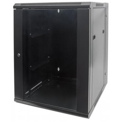 Intellinet  19″ Wandverteiler 500 (H) x 600 (B) x 550 (T) mm 9HE schwarz | 0766623711845