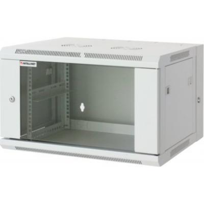 Intellinet  19″ Wandverteiler 500 (H) x 600 (B) x 550 (T) mm 9HE grau | 0766623711852