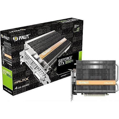 GeForce GTX 1050Ti KalmX 4GB GDDR5 DVI/HDMI/DP Grafikkarte passiv | 4710636269479