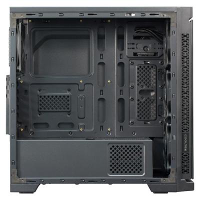 Cooltek  CTC TG-01 – Blau Midi Tower Gehäuse mit Seitenfenster, schwarz | 4250140351500