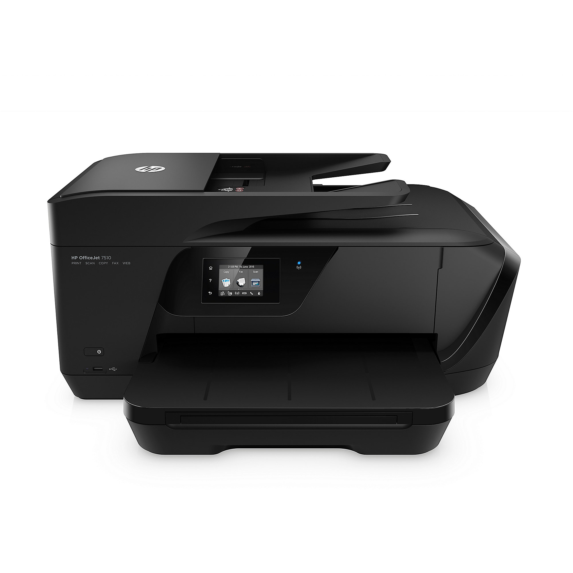 HP OfficeJet 7510 Tintenstrahlmultifunktionsdrucker Scanner Kopierer Fax WLAN A3