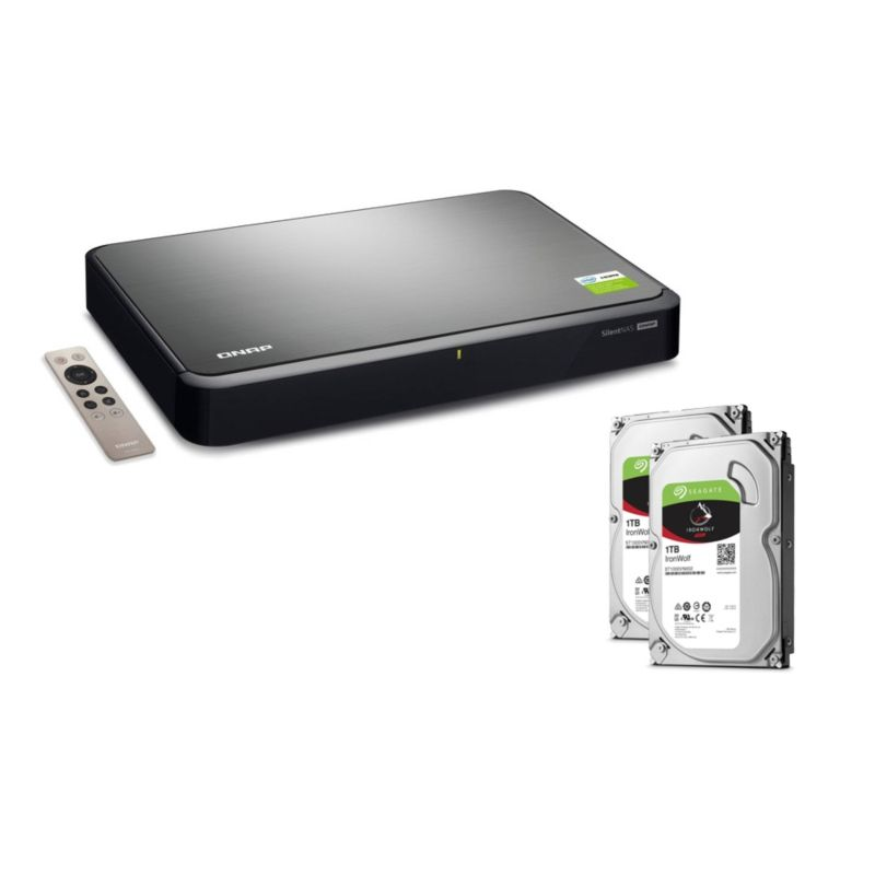 *QNAP HS-251+ NAS System 2-Bay 2TB inkl. 2x 1TB Seagate ST1000VN002