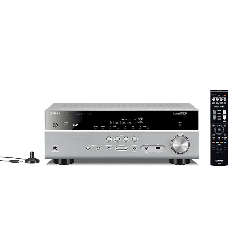 Yamaha RX-V481 DAB 5.1 AV-Receiver 4K, Bluetooth,  DLNA, AirPlay, WiFi - titan