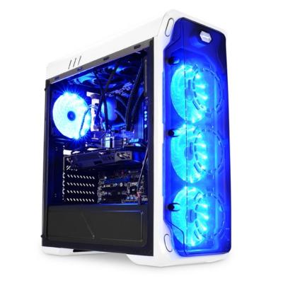 LC-Power  Gaming 988W Blue Typhoon Midi Tower Gaming Gehäuse mit Seitenfenster | 4260070125805