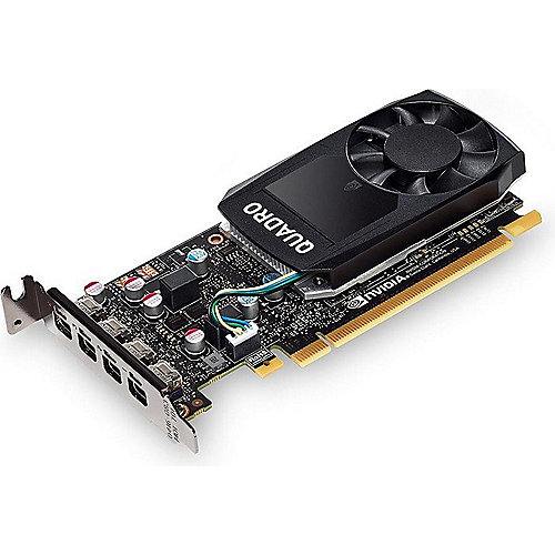 PNY NVIDIA Quadro P1000 4GB PCIe 3.0 Workstation Grafikkarte 4x Mini-DP