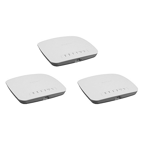 Netgear 3er Set WAC510 Business 2x2 Dualband Wls-AC Wave 2 Access Point mit App