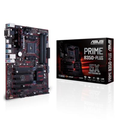Asus  PRIME B350-PLUS ATX Mainboard Sockel AM4 USB3.1(C)/SATA600/M.2 | 4712900657272