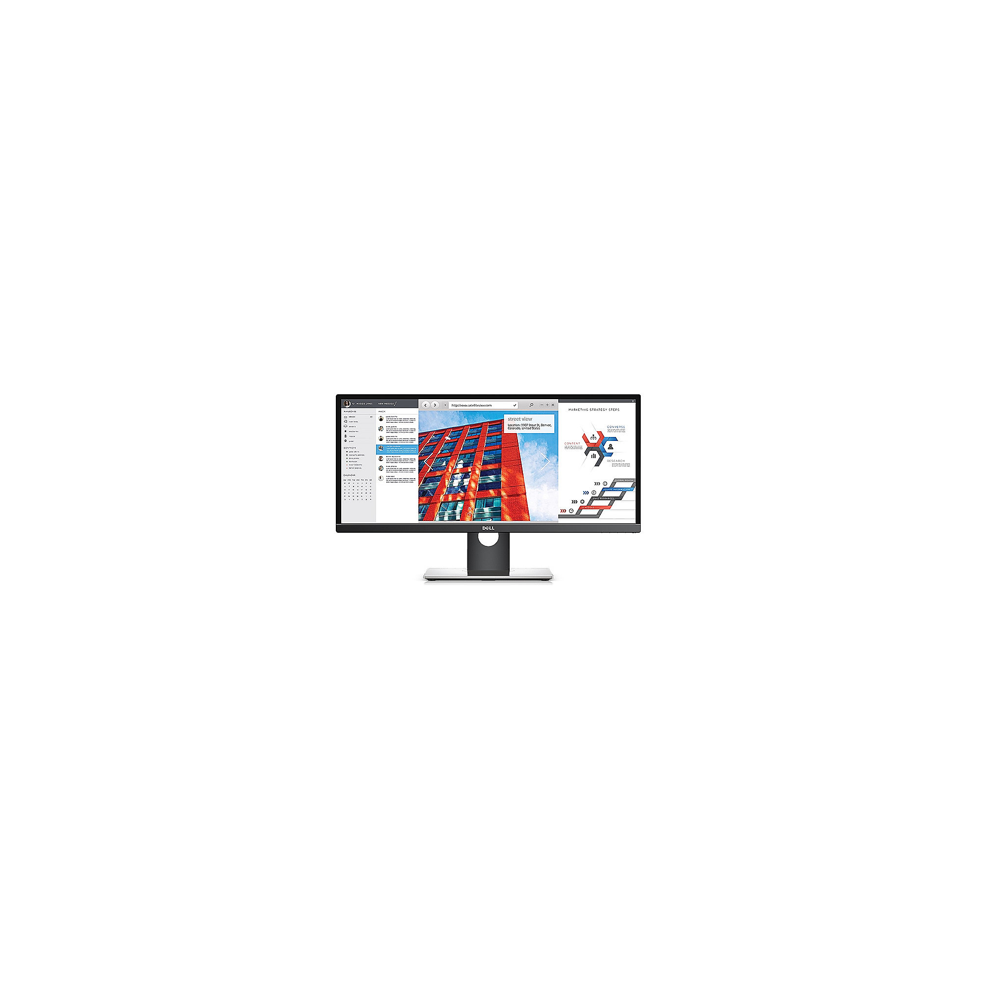 "DELL UltraSharp U2917W 73 cm (29"") 21:9 WQHD TFT IPS Monitor VGA/DP/HDMI/USB 8ms"