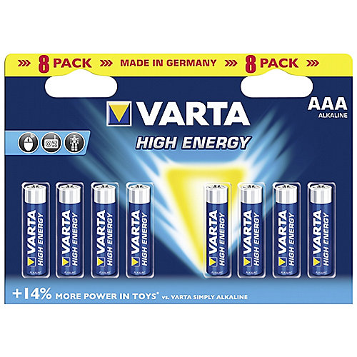 VARTA High Energy Batterie Micro AAA LR3 8er Blister