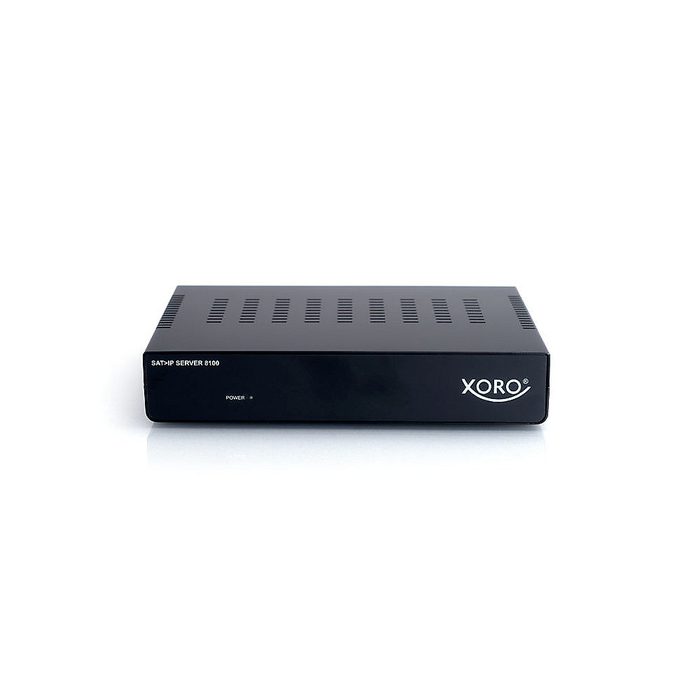 Xoro SAT>IP Server 8100, bis zu 8 IP-Clients 4x DVB-S Unicast Multicast
