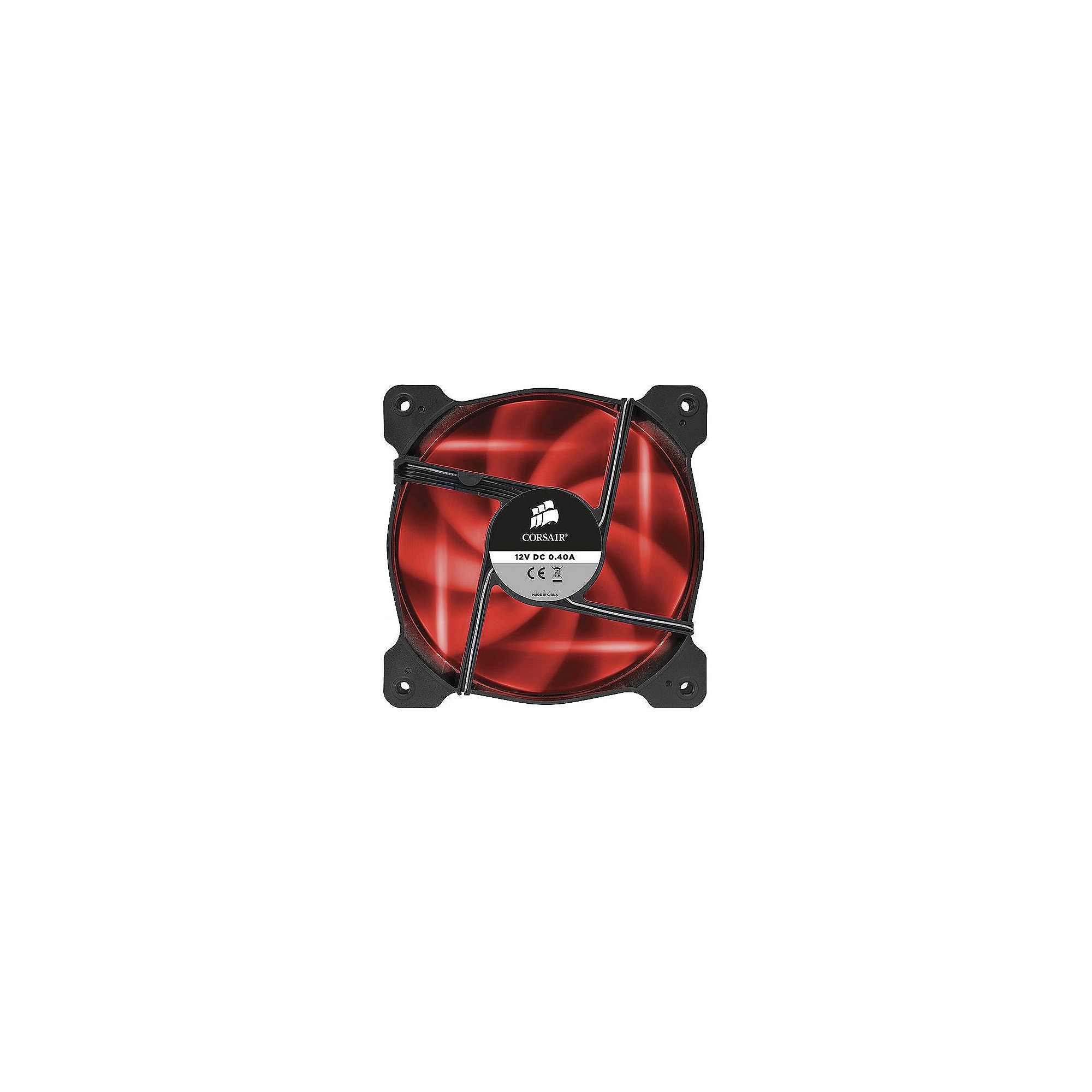 Corsair Air Series AF140 LED Red Quiet Edition Lüfter 140x140x25mm