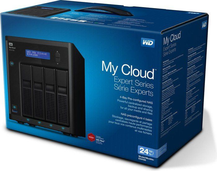 My Cloud EX4100 2xGLAN Gigabit NAS System 4-Bay 24TB (4x6TB)