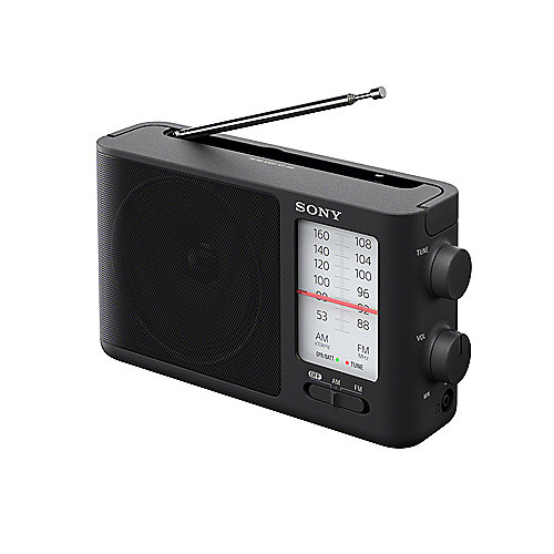 Sony ICF-506 analoges MW/UKW-Radio Schwarz