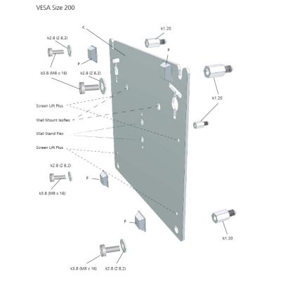 Loewe  Wall Mount Slim/Vesa Size 200   4011880140171