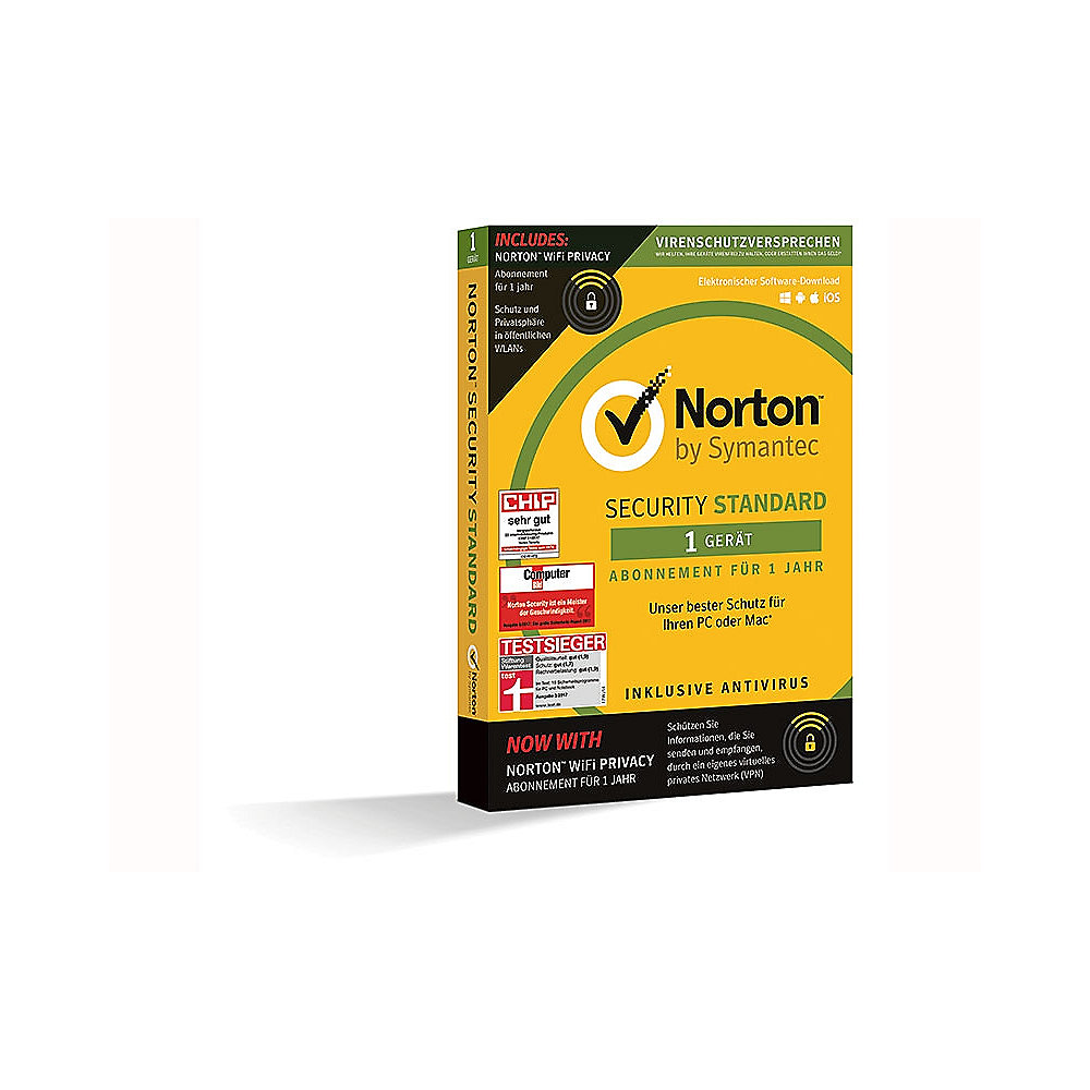 Symantec Norton Standard + Norton WIFI Privacy, 1 Gerät 1 Jahr, Minibox