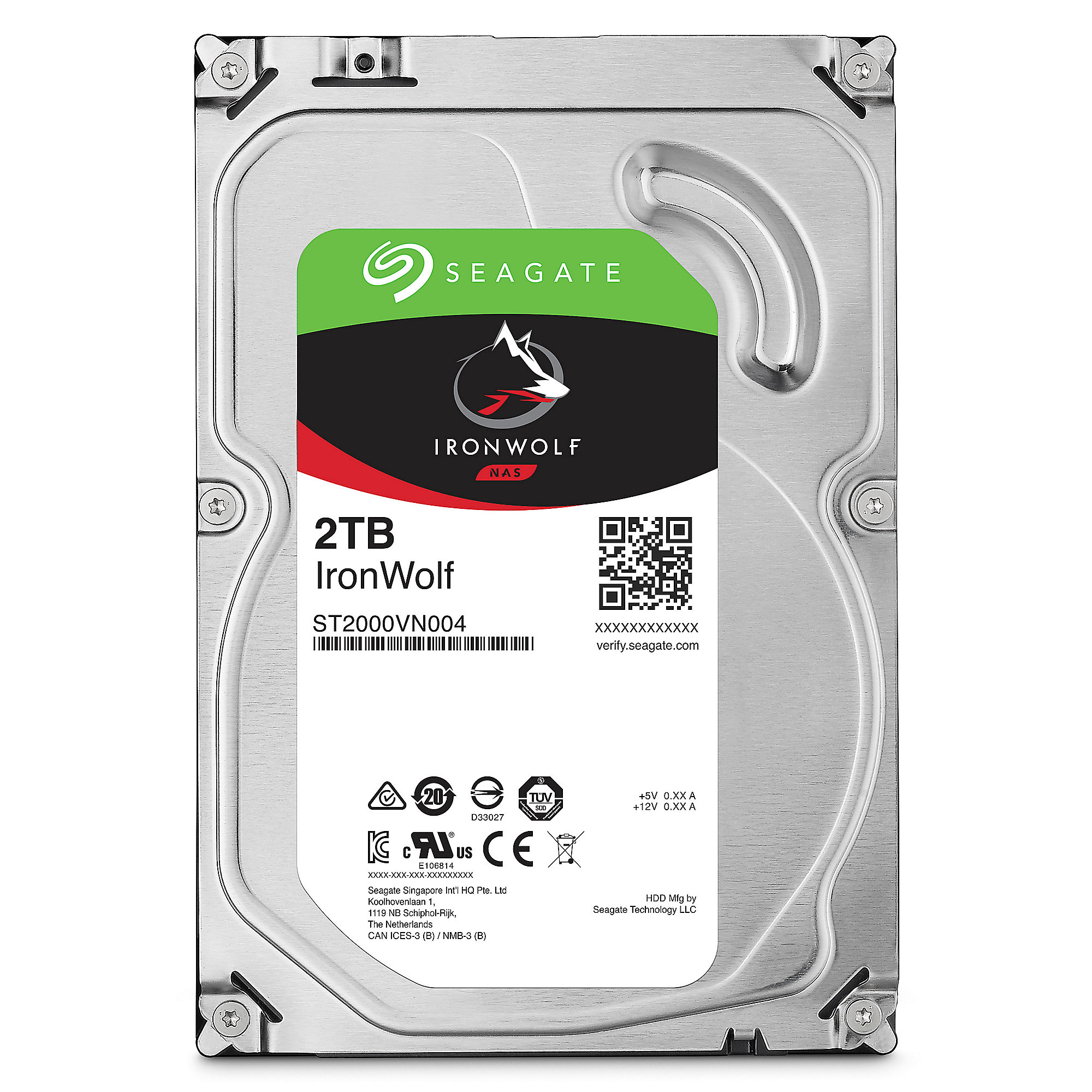 Seagate 2er Set IronWolf NAS HDD ST2000VN004 - 2TB 5900rpm 64MB 3.5zoll SATA600