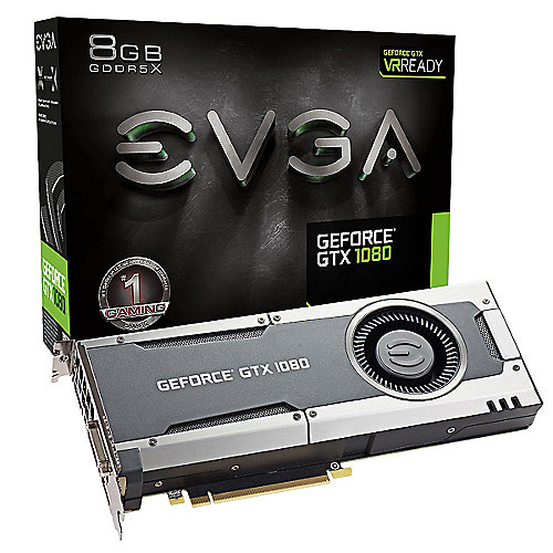 EVGA GeForce GTX 1080 Gaming Edition 8GB GDDR5 DVI/HDMI/3xDP Grafikkarte