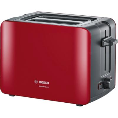 Bosch  TAT6A114 ComfortLine Kompakt-Toaster rot   4242002879932