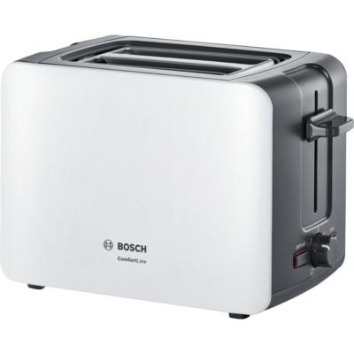 Bosch  TAT6A111 ComfortLine Kompakt-Toaster weiß   4242002879475