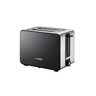 Bosch  TAT7203 Kompakt-Toaster Edelstahl schwarz   4242002969633