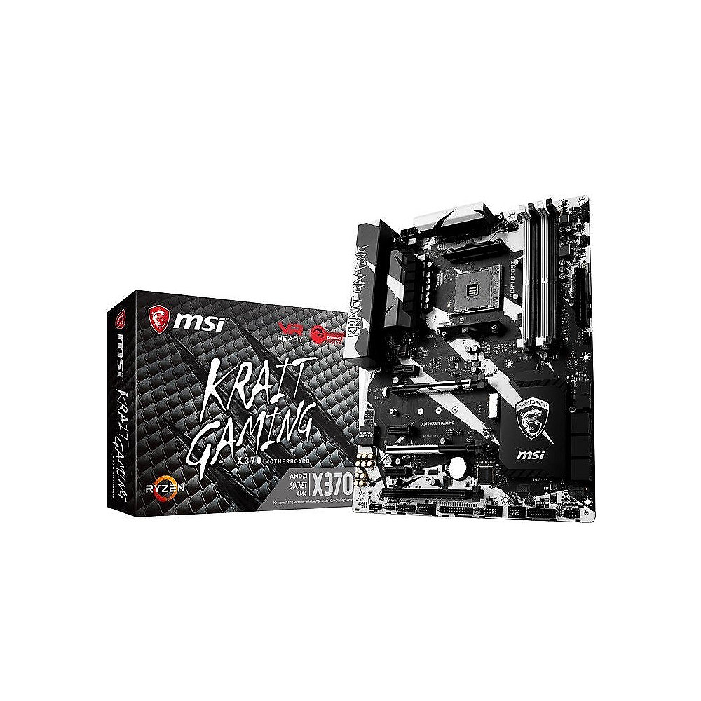 MSI X370 Krait Gaming ATX Mainboard Sockel AM4 SATA600/R/M.2/USB3.1