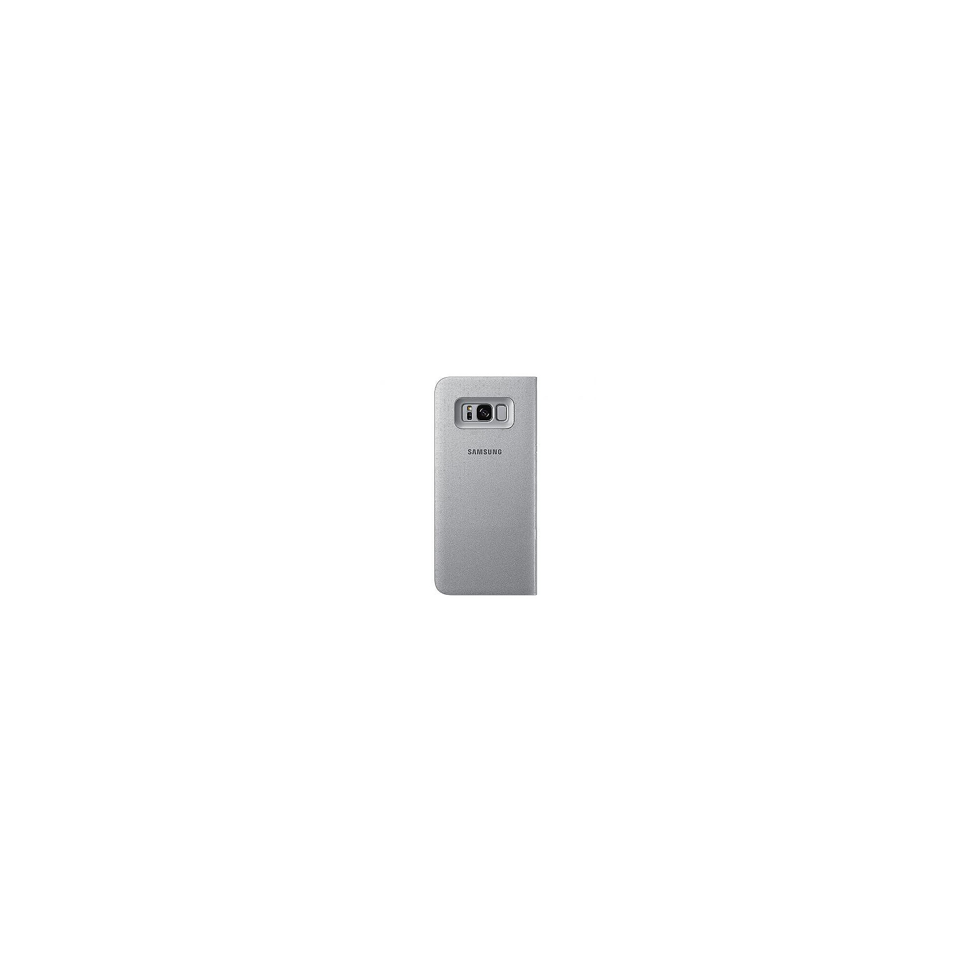 Samsung EF-NG955 LED View Cover für Galaxy S8+ silber