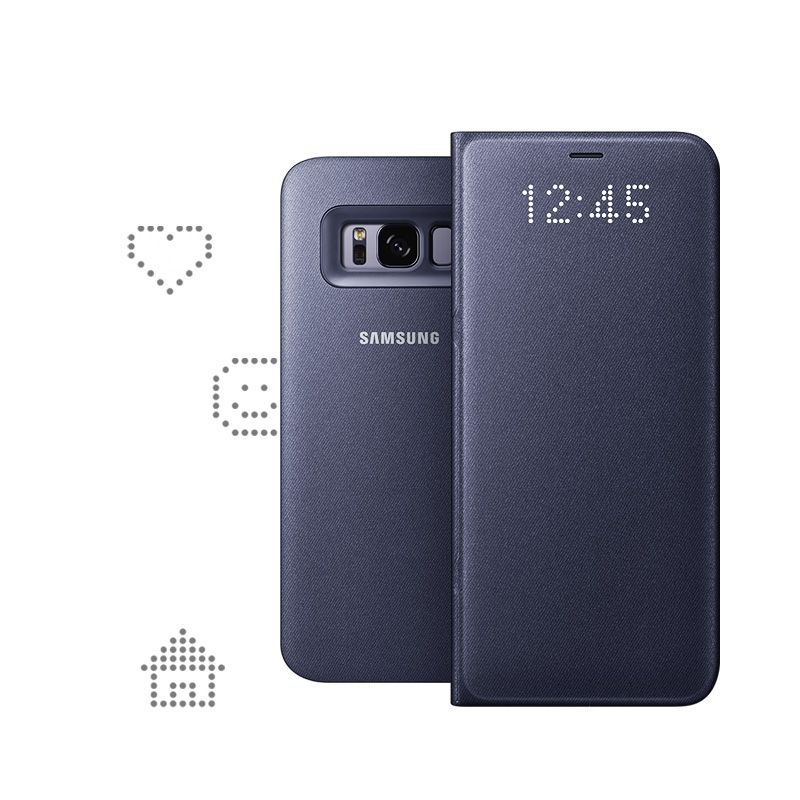 Samsung EF-NG955 LED View Cover für Galaxy S8+ violett