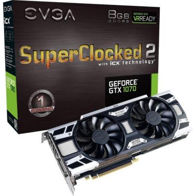 Evga  GeForce GTX 1070 SC Gaming iCX 8GB GDDR5 DVI/HDMI/3xDP Grafikkarte | 0843368045722