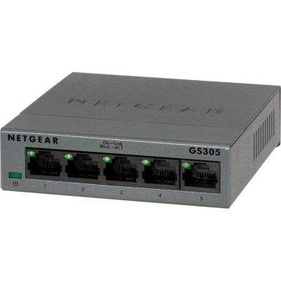 Netgear  GS305-100PES 5-Port Gigabit Switch mit Metallgehäuse | 0606449105810