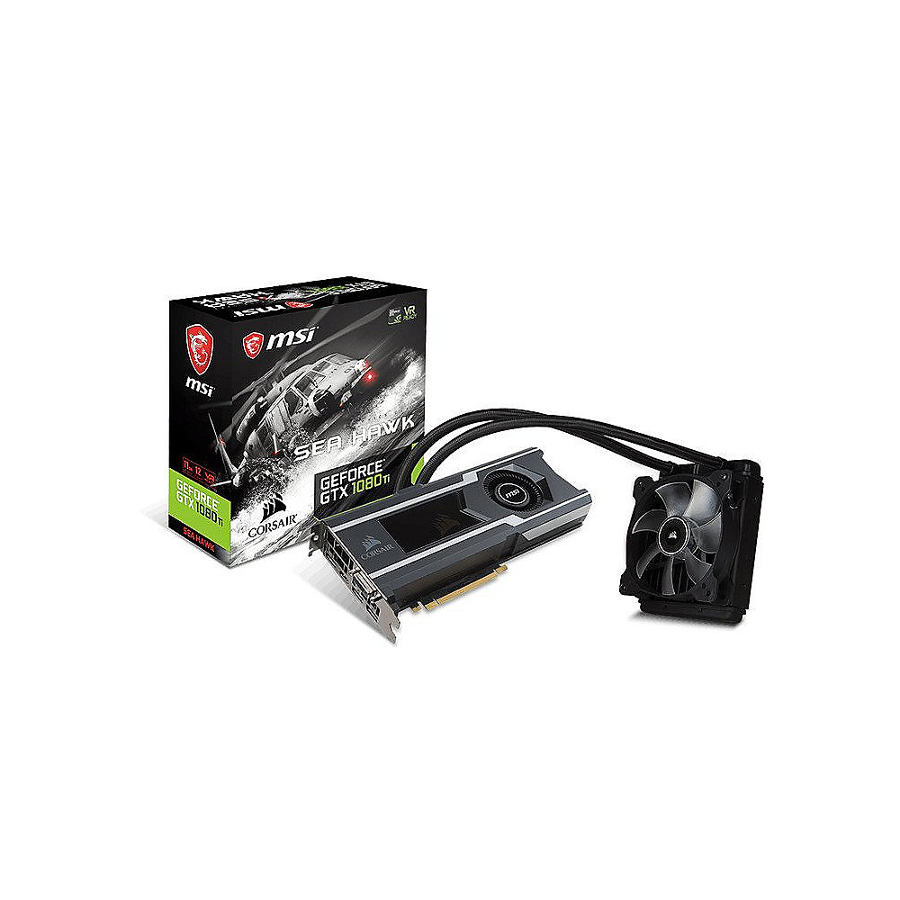 MSI GeForce GTX 1080Ti Sea Hawk X 11GB GDDR5X Grafikkarte HDMI/3x DP/DVI