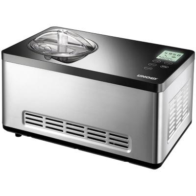 Unold  48845 Eismaschine Gusto mit digitalem Timer, 2l, Edelstahl/schwarz | 4011689488450