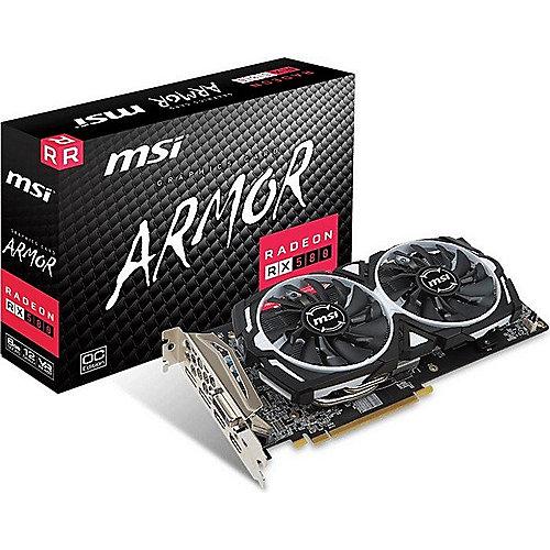 MSI AMD Radeon RX 580 Armor 8G OC 8GB Grafikkarte GDDR5  DVI/2xHDMI/2x DP | 4719072516147