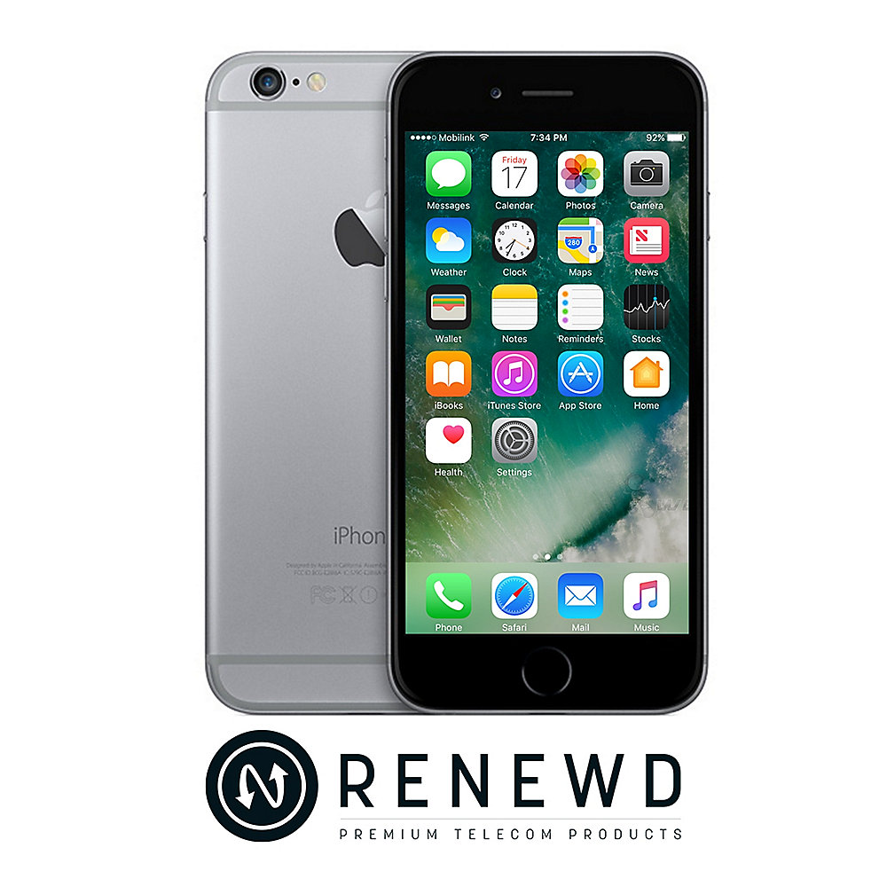apple iphone 6 64 gb spacegrau renewd cyberport. Black Bedroom Furniture Sets. Home Design Ideas