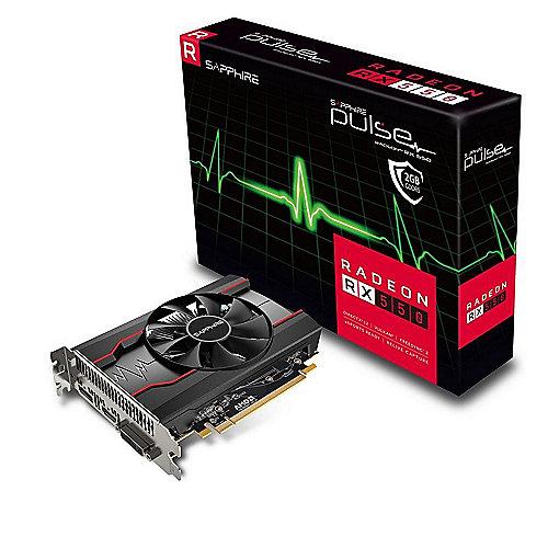 Sapphire AMD Radeon RX 550 Pulse OC 2GB Grafikkarte HDMI/DP/DVI-D | 4895106282162