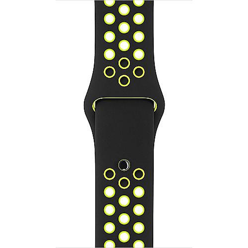 Apple Watch 42mm Nike Sportarmband Schwarz Volt S M und M L MQ2Q2ZM A
