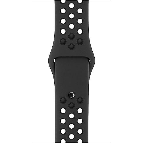 Apple Watch 38mm Nike Sportarmband Anthrazit Schwarz S M und M L MQ2K2ZM A
