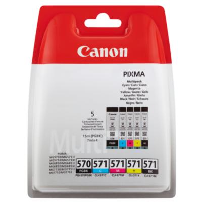 Canon  CLI-571BK/C/M/Y PGI-570PGBK Druckerpatronen Multipack | 8714574631660
