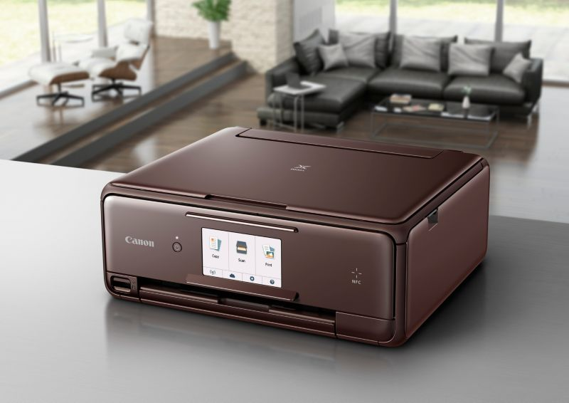 Canon PIXMA TS8053 brown Multifunktionsdrucker Scanner Kopierer WLAN
