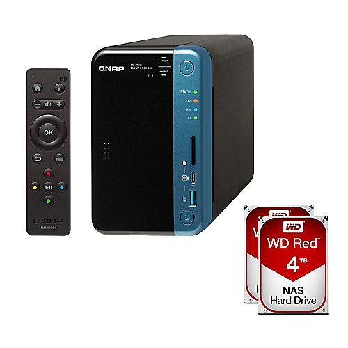 QNAP TS-253B-4G NAS System 2-Bay 8TB inkl. 2x 4...