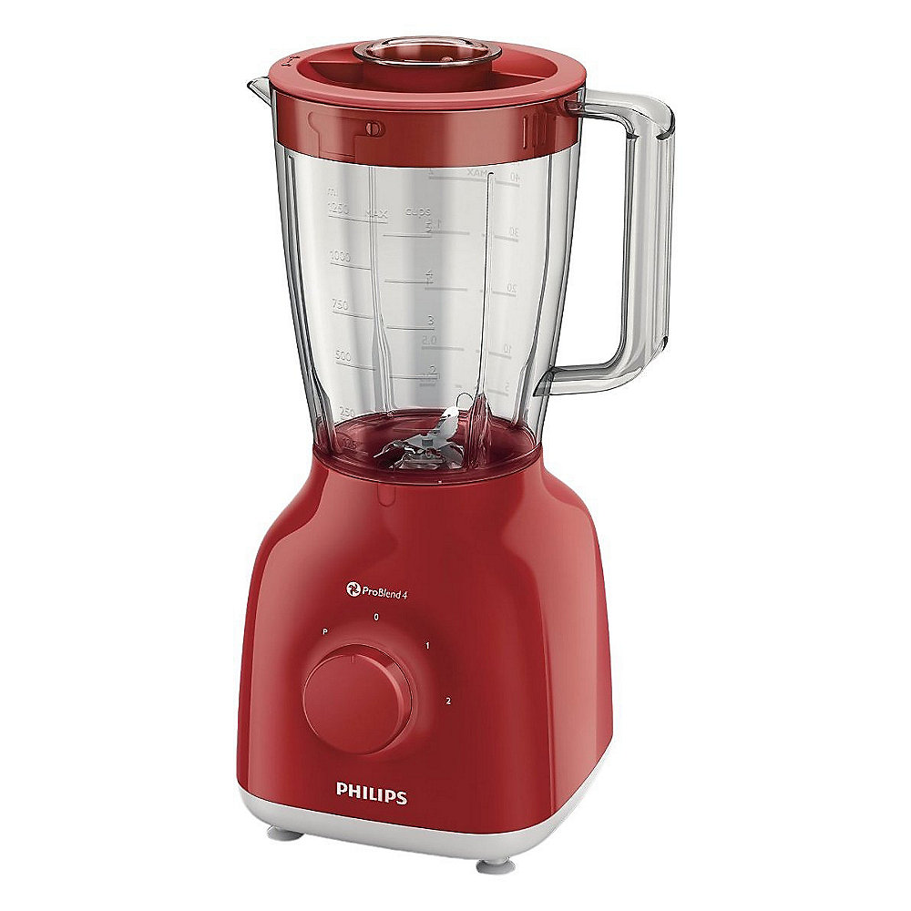 Philips HR2105/50 Daily Collection Standmixer rot